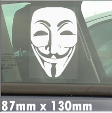 1 x We are the Anonymous-Vendetta-Self Adhesive Window Vinyl Sticker-Car,Van,Sign,Guy,Fawkes,V,Mask,Sign